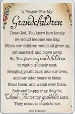 Novelty FRIDGE MAGNET Family gift PRAYER FOR MY GRANDCHILDREN poem grandparents