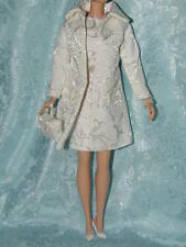 Barbie White Brocade Sheath Dress & Jacket ~ Fits Silkstone ~ Newly De-Boxed