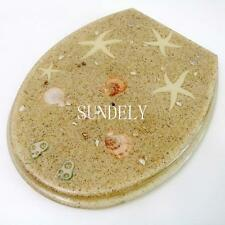 sundely seashell Toilet Seat Resin Novelty Toilet Seats with zinc alloy hinges