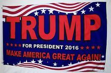 Trump For President Make America Great Again Flags Two 3' X 5' Campaign Banners