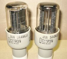 2 NOS JAN Cetron (Richardson)  5R4WGB  Tubes