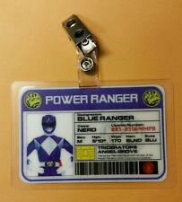 Power Ranger  ID Badge-Blue Ranger  cosplay costume