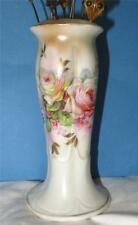 Antique Porcelain Painted Hatpin Holder Raised Hallmark and Made in Germany