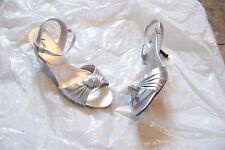 womens fioni night silver layered ankle strap heels shoes size 11