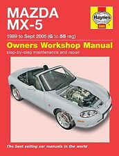Haynes Manual Mazda MX-5 UK Models Eunos MX5 MkI & MkII 1989-2005 NEW 5565