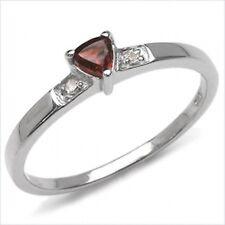Verführerischer Granat/Diamant-Ring 925 Sterl.Silber Rhodiniert
