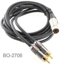 6ft Bang & Olufsen 7Pin Din Plug to 2RCA Plug Premium Grade Audio Cable, BO-2706