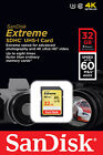 Genuine SanDisk Extreme 32gb 60MB/s SD Card SDHC SDXC Memory Card Class 10 32 GB