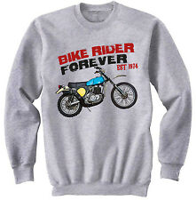 DUCATI 125 ENDURO 1974 - NEW COTTON GREY SWEATSHIRT ALL SIZES IN STOCK