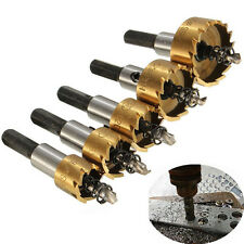 High Quality 5PCs HSS Drill Bit Hole Saw Set Stainless Steel Metal Alloy 16-30mm