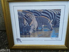 Stephen Gayford signed Print Thirsty Travellers numbered 629 / 11 Great Cond
