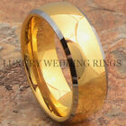 Tungsten Men's Ring 14K Gold Infinity Wedding Band Hot Bridal Jewelry Size 6-13