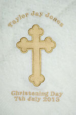 Personalised Christening/Baptism/Naming Day Shawl