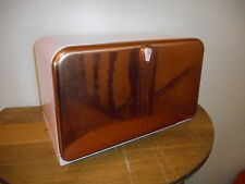 Vintage Lincoln Beautyware Pink & Copper Metal Bread Box