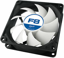 Arctic F8 80mm 8cm PC Gaming Case Fan, 31 CFM, High Performance 6 Year Warranty