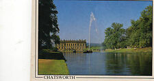 Postcard  Derbyshire  Chatsworth posted  Millstone cards