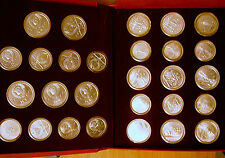 1980 RUSSIA USSR CCCP - COMPLETE MOSCOW OLYMPICS MINT UNC SILVER SET (28)- 21 Oz