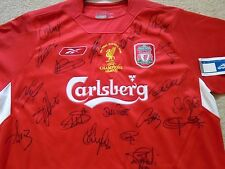 Liverpool Football Club Rare Istanbul 2005 UEFA Champions League Signed Shirt