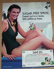 1983 ad page - Sugar-Free SPRITE diet soda pop SEXY GIRL Swimmer vintage ADVERT