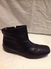 Finish The Look Black Ankle Leather Boots Size 6