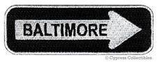 ONE-WAY SIGN PATCH BALTIMORE MARYLAND EMBROIDERED iron-on TRAVEL EMBLEM APPLIQUE