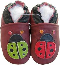Carozoo ladybug dark red 4-5y shoeszoo soft leather kids shoes