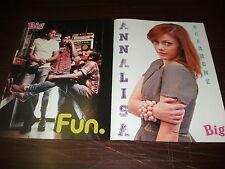 Poster in 4 parti ANNALISA e FUN cm 28 x 41, retro EMMA e ONE DIRECTION