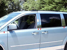 2008-2015 CHRYSLER TOWN & COUNTRY 8PC STAINLESS STEEL PILLAR POST TRIM