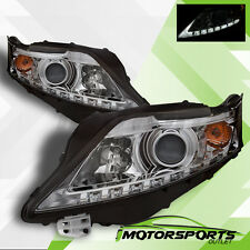 For 2010 2011 2012 Lexus RX350 SUV LED Projector Chrome Headlights Pair
