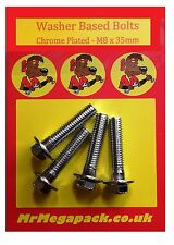 Honda CX500 Chrome Plated Handlebar Clamp Bolts (pack of four)