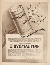 Y9287 OVOMALTINE - Revivre, refleurir... - Pubblicità d'epoca - 1932 Old advert