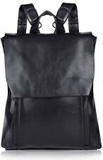 Vbiger Women's Vintage Genuine Cowhide Leather Backpack School Bag (Black)