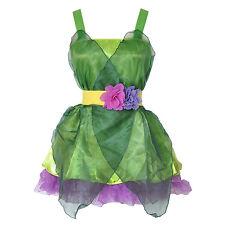 Women's Adult Tinkerbell Pixie Woodland Fairy Costume Fancy Dress Halloween 6-10