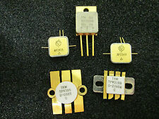 5 PSC MIXED TRANSISTORS  GOLD PLATED VINTAGE Military