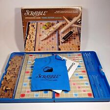 Vintage Scrabble Travel Edition Crossword Game No. 52 Blue Plastic Box 1976