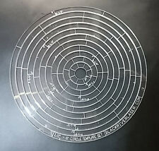 "1/2"" - 6"" CIRCLE TEMPLATES - PRECISION LASER CUT - FOR LEATHER CRAFTERS - CTS"