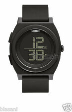 Nixon Original Time Teller Digi A417-001 All Black Silicone 40mm Watch
