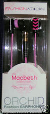 NEW FASHIONATION PINK ORCHID EARBUDS MACBETH COLLECTION Fashion Nation earphones