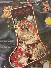 Christmas Cats Stocking Janlynn Kit Counted Cross Stitch New 1998