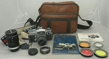 Miranda Sensorex 50mm Silver Black Vintage Film Camera Bundle