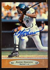 ANDRE DAWSON • Miami Marlins Signed Upper Deck 1996 Baseball Card #335 • CO