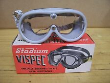 NOS Vintage Stadium Helmet Goggles Motorcycle Scooter