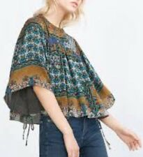 NWT Zara Patchwork Print Blouse. Large Size.