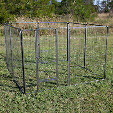 "43"" Height 8 Panel Pet Pen Enclosure Cage Playpen Run for Dog Chicken"