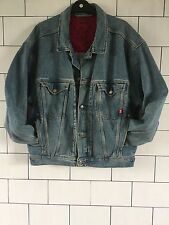 JOOP JEANS FESTIVAL VINTAGE RETRO OVERSIZED BIKER TRUCKER DENIM JACKET LARGE #28