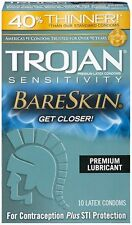 Trojan Sensitivity Bareskin Condoms 10ct -FREE WORLDWIDE SHIPPING- Exp. 10-2020-