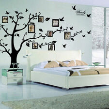 Large Photo Picture Frame Family Tree Removable Wall Sticker Decor Decal Black Y
