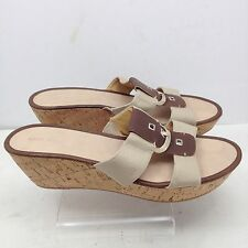 "Nine West ""Heartful"" Wedge Sandals Womens Size 10M Slides"