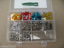 FUSE PACK  120 PCE - GLASS & BLADE - CAR TRACTOR FARM  NEW  FREE POST