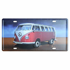 VW Bus Metal Sign Tin Plate - 30x15cm